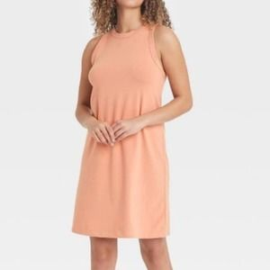 A New Day Blush Midi Knit Tank Dress Size XL